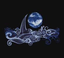 Tshirt - Lunar Sailing - Ultramarine by MelDavies