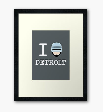 I Protect Detroit Framed Print