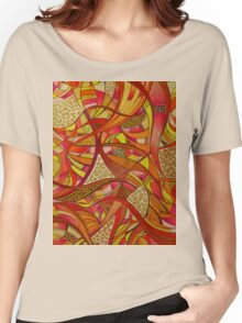 Tshirt - Abstract Tangerine Women's Relaxed Fit T-Shirt