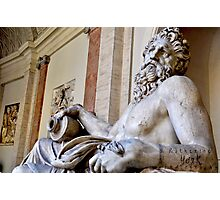 sculptures outside the Vatican Photographic Print