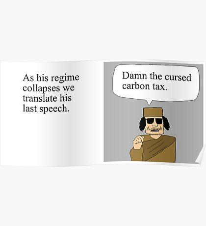Gaddafi's last speech Poster