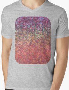 Sparkley Grunge Relief Background Mens V-Neck T-Shirt