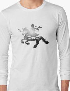 Khaleesi riding Silver Long Sleeve T-Shirt