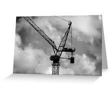 Tower Crane Greeting Card