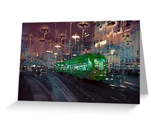 The Essence of Croatia - Zagreb Night Tram Greeting Card