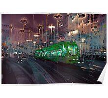 The Essence of Croatia - Zagreb Night Tram Poster
