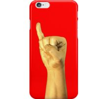 gold code: I (iPhone) - red iPhone Case/Skin
