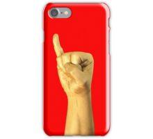 gold code: I (iPhone) - red iPhone Case/Skin