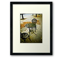 Cafe Patio for two 01 Framed Print