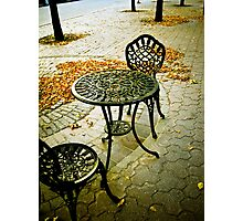 Cafe Patio for two 01 Photographic Print