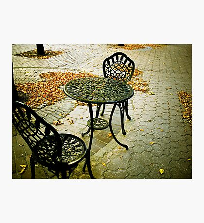 Cafe Patio for two 02 Photographic Print