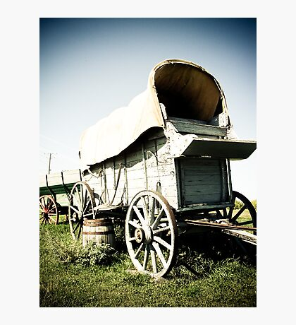 Old West Covered Wagon 01 Photographic Print