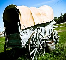 Old West Covered Wagon 02 by mdkgraphics