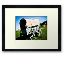 Old West Covered Wagon 02 Framed Print
