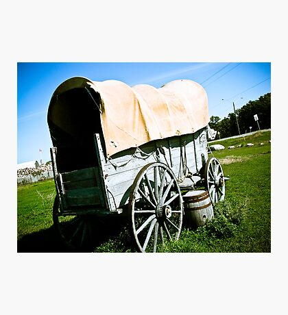 Old West Covered Wagon 02 Photographic Print