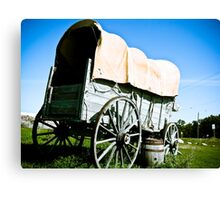 Old West Covered Wagon 03 Canvas Print