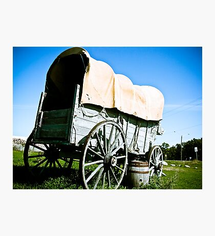 Old West Covered Wagon 03 Photographic Print