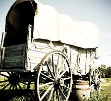 Old West Covered Wagon 04 by mdkgraphics