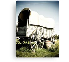 Old West Covered Wagon 04 Canvas Print