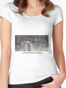 Crane Head Women's Fitted Scoop T-Shirt