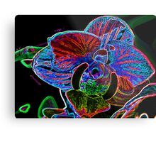 Manipulated Orchid Metal Print