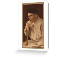 Benjamin K Edwards Collection Beals Becker New York Giants baseball card portrait 001 Greeting Card