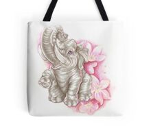 Blue eyes elephant, don´t forget me Tote Bag