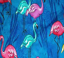 Enchanting Flamingos iPhone 4s Case by purplesensation