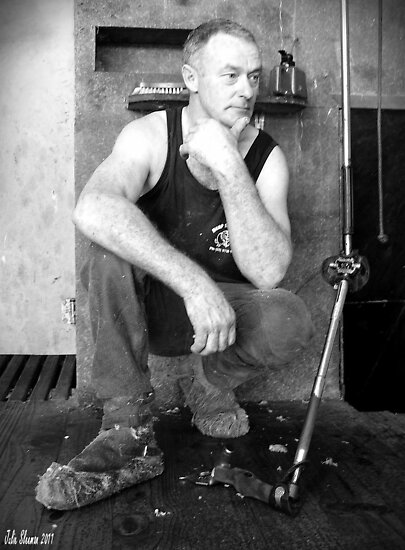 Portrait of a Shearer #2 by Julie Sleeman