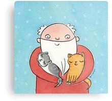 Santa Claus with Kitty Cats  Metal Print