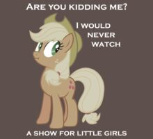 "Applejack lies ""You"" Version T-Shirt"
