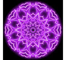 Pink Neon Kaleidoscope 01 Photographic Print