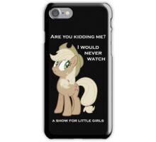 "Applejack lies ""You"" Version iPhone Case/Skin"