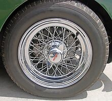 Jaguar XK150 Wire Wheel by George Petrovsky