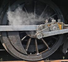Train Driving Wheel by George Petrovsky