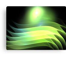 Citrus Lime Waves Canvas Print