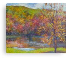 Mountain lake in fall Canvas Print