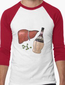 liver, fava beans, and a nice chianti Men's Baseball ¾ T-Shirt