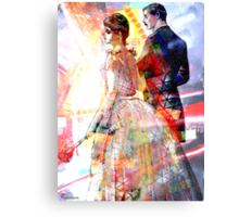 EVENING COURTING Canvas Print
