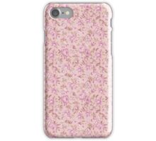 Chic vintage pink brown retro flowers pattern iPhone Case/Skin