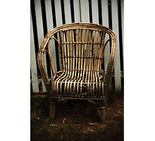 Cane Chair Photographic Print