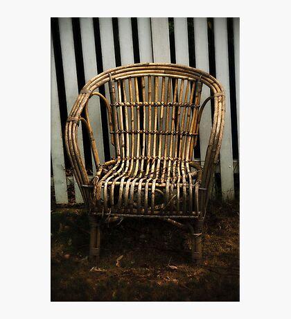 Cane Chair Photographic Print