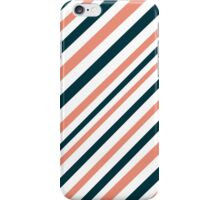 Trendy warm winter colors stripes pattern iPhone Case/Skin