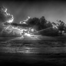 Sunrise at the beach: a study in Black and White by Bill Wetmore