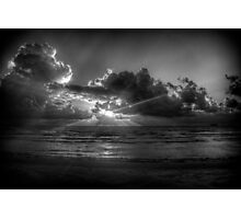 Sunrise at the beach: a study in Black and White Photographic Print