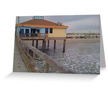 Pier on the Coast Greeting Card