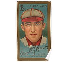 Benjamin K Edwards Collection Arnold J Hauser St Louis Cardinals baseball card portrait Poster