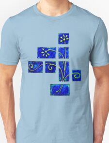 Tshirt - Abstract Blue Floral T-Shirt