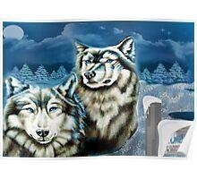 Wolfs Winter Wonder Land Poster
