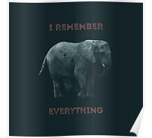 I Remember Everything Poster